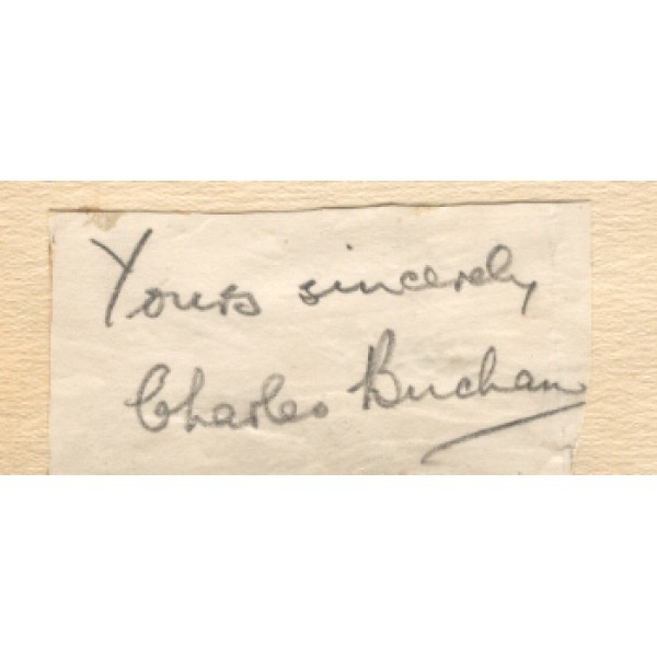 Charles Buchan original authentic genuine signed