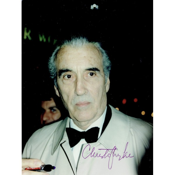 Christopher Lee  authentic genuine autograph signed photo