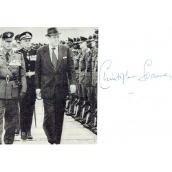 Christopher Soames  original authentic genuine autograph signed photo