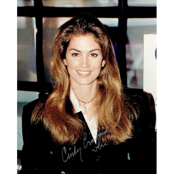 Cindy Crawford authentic signed genuine signature