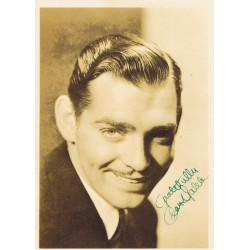Clark Gable genuine authentic signed autograph signatures photo