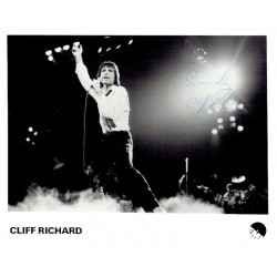 Cliff Richard  original authentic genuine autograph signed photo