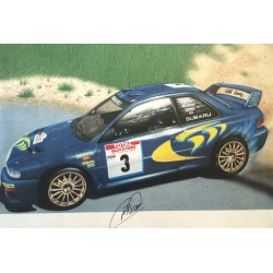 Colin McRae  authentic genuine signed autographs poster