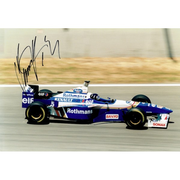 Damon Hill F1 genuine authentic signed autograph image