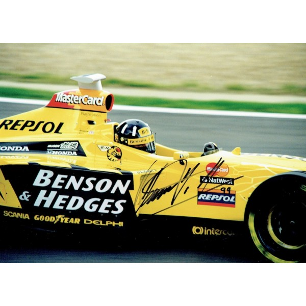 Damon Hill  original authentic genuine autograph signed photo