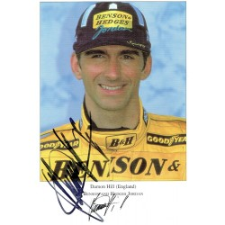 Damon Hill original authentic genuine signed photo