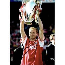 Denis  Bergkamp original authentic genuine signed photo