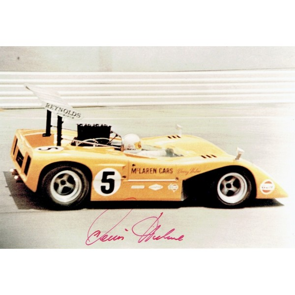 Denny Hulme original authentic genuine signed autograph photo