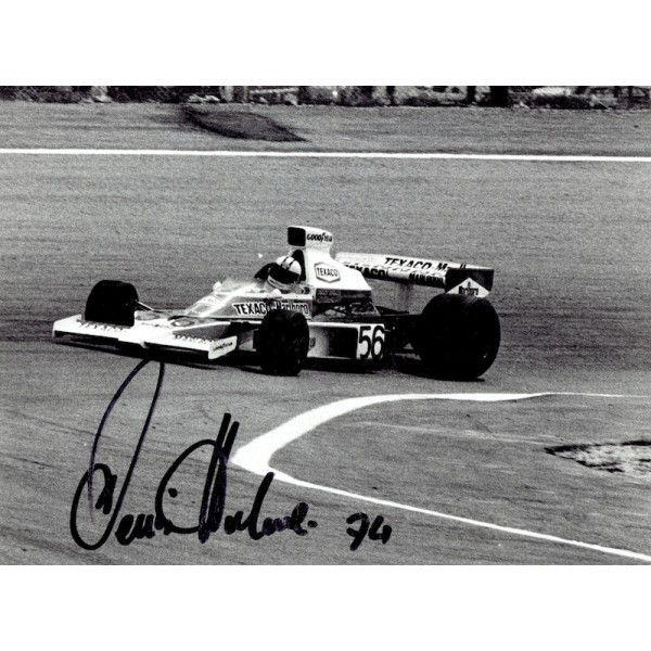 Denny Hulme signed authentic genuine signature