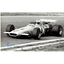 Denny Hulme signed authentic genuine signature photo