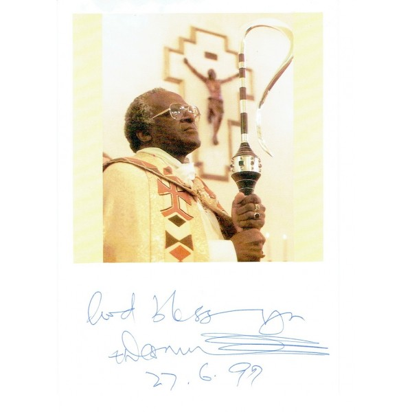 Desmond Tutu authentic signed genuine signature