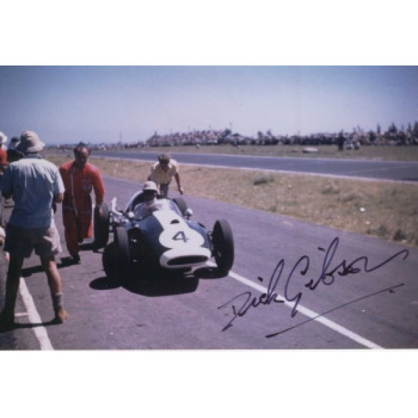 Dick Gibson original authentic genuine signed autograph photo