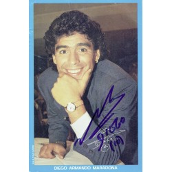 Diego Maradona original authentic genuine signed photo