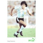 Diego Maradona signed authentic genuine signature postcard