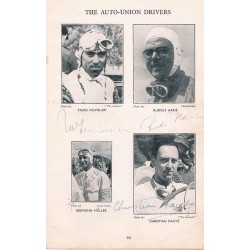Donington 1938 authentic signed autograph signatures