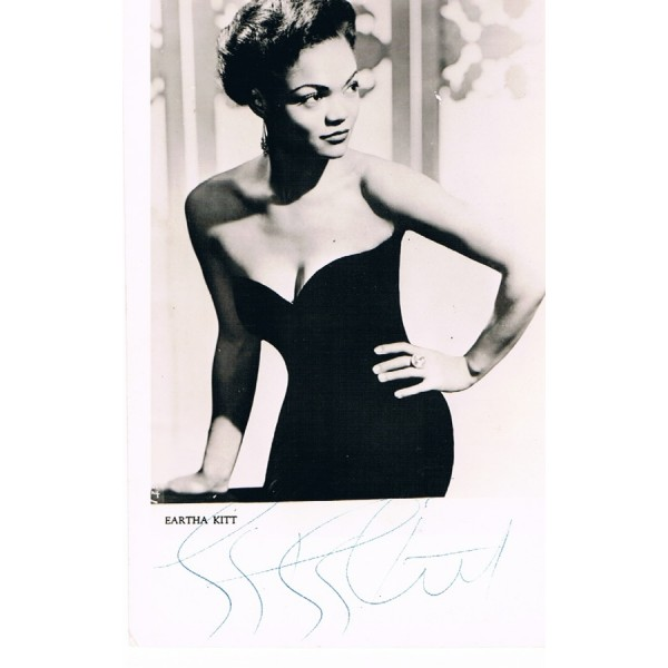 Eartha  Kitt original authentic genuine signed photo