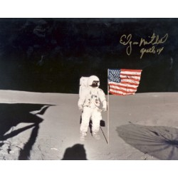 Edgar Mitchell original authentic genuine signed photo
