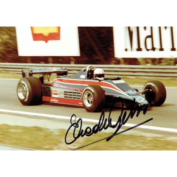 Elio De Angelis  authentic genuine signed autographs photo