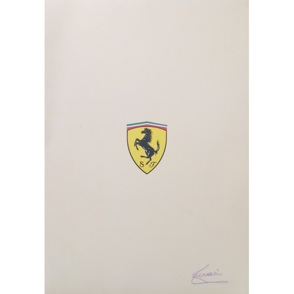 Enzo Ferrari genuine authentic signed autograph signatures brochure