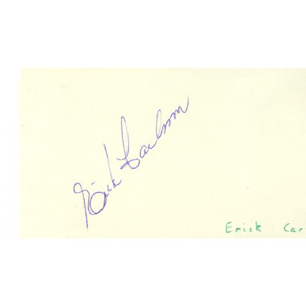 Erik Carlsson genuine original authentic signed autograph
