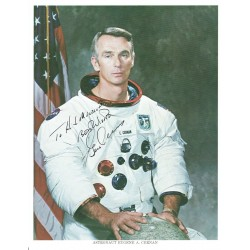 Eugene Cernan original authentic genuine signed photo