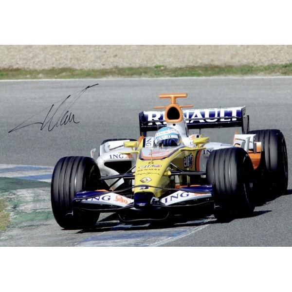 Fernando Alonso genuine original authentic signed autograph photo