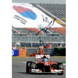 Fernando Alonso original authentic genuine signed photo