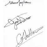 Ferrari Team 1980 Villeneuve Scheckter genuine authentic signed autograph signatures