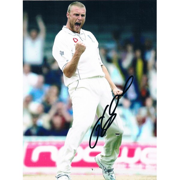 Freddy Flintoff original authentic genuine signed photo