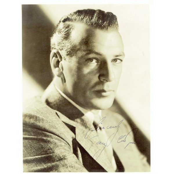 Gary Cooper genuine authentic signed autograph signatures