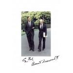 George Bush Snr  authentic genuine signed autographs photo