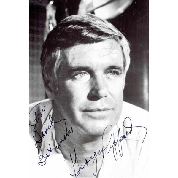 George Peppard  authentic genuine autograph signed photo
