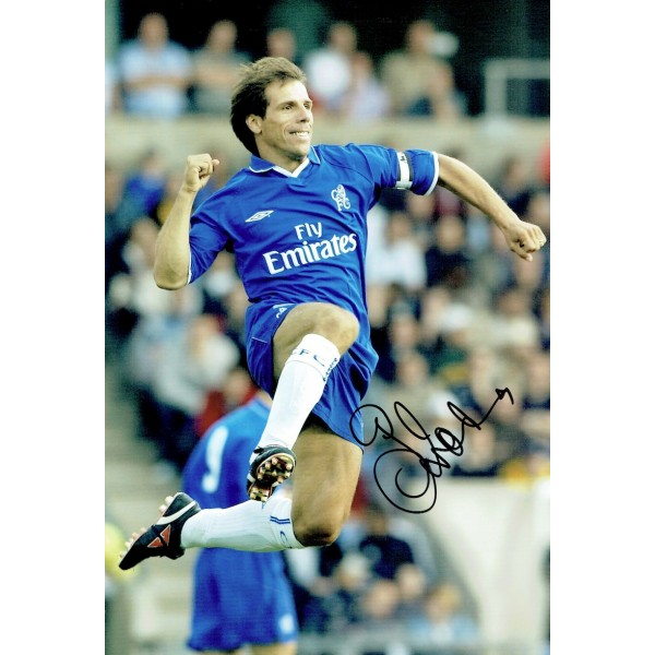 Gianfranco Zola original authentic genuine signed photo