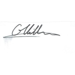 Gilles Villeneuve genuine authentic signed autograph signatures