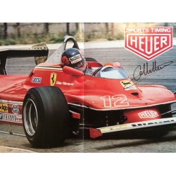 Gilles Villeneuve genuine authentic signed autograph signatures poster