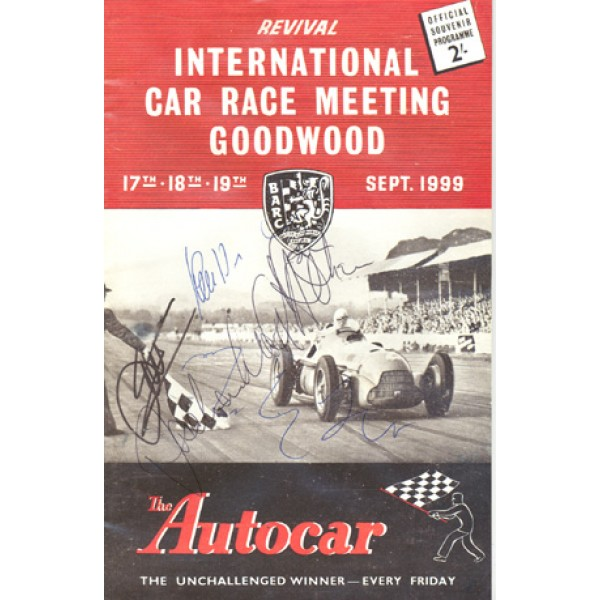 Goodwood Programme genuine original authentic signed autograph programs