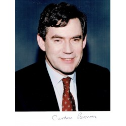 Gordon Brown  original authentic genuine autograph signed photo