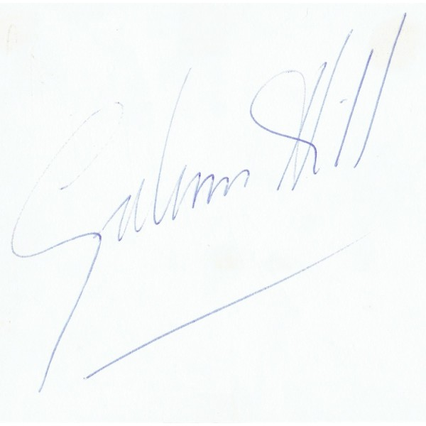 Graham Hill original authentic genuine signed
