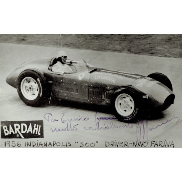 Guiseppe Farina authentic signed autograph signatures photo