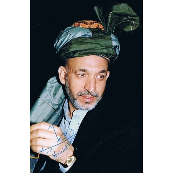 Hamid Karzai original authentic genuine signed photo