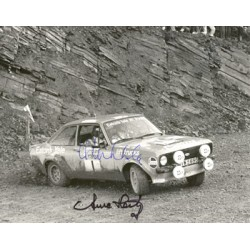 Hannu Mikkola & Hertz.  original authentic genuine autograph signed photo