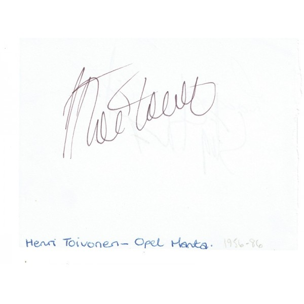 Henri Toivonen  genuine authentic signed autograph signatures