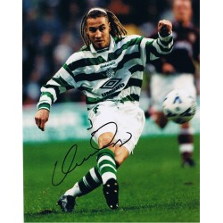 Henrik Larsson signed authentic genuine signature