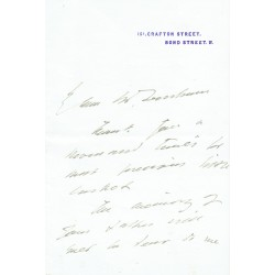 Henry Irving  original authentic genuine autograph signed letter