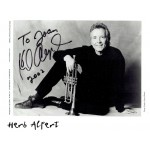 Herb Alpert  original authentic genuine autograph signed photo