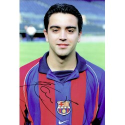 Hernandez Xavi original authentic genuine signed photo