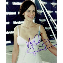 Hilary Swank  authentic genuine autograph signed photo