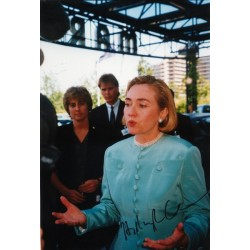 Hillary Clinton genuine authentic signed autograph signatures photo