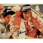 Hunt and Scheckter genuine original authentic signed autograph photo