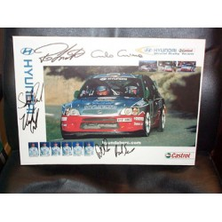 Hyundai Rally Team  genuine signed original autograph photo